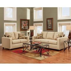 Flash Furniture Exceptional Designs by Flash Living Room Set in Vivid Beige Fabric