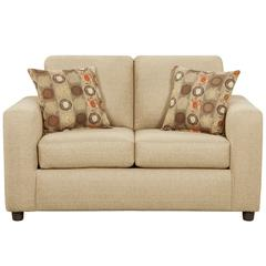 Exceptional Designs by Flash Vivid Beige Fabric Loveseat