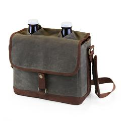 Insulated Double Growler Tote with 64-oz. Glass Growlers
