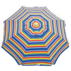 RIO Beach 6 ft. Beach Umbrella with Integrated Sand Anchor