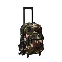 "17"" Rolling Backpack, Camo"