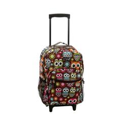 "17"" Rolling Backpack, Owl"