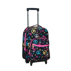 "17"" Rolling Backpack, Peace"