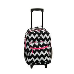 "17"" Rolling Backpack, Pinkchevron"