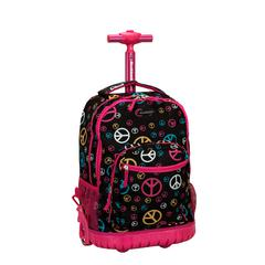 "19"" Rolling Backpack, Peace"