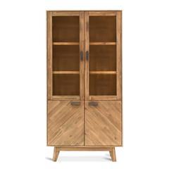 Kensington 39-Inch Wide Acacia Wood Bookshelf with Sand Finish