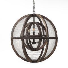 Element Industrial Globe Ceiling Light