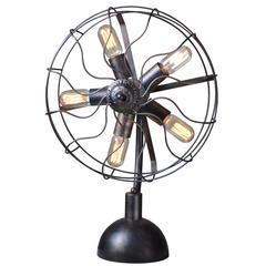 Element Industrial Fan Head Table Lamp