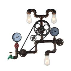 Element Industrial Pipe & Gauge Wall Sconce