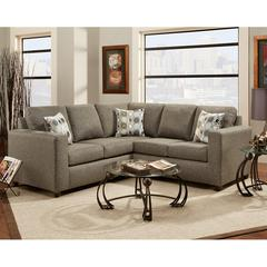 Exceptional Designs by Flash Vivid Onyx Fabric Sectional