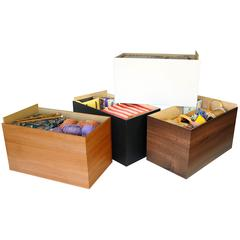 Project Center Drawer-Set of 3, 10 x 17-3/4 x 10, Black