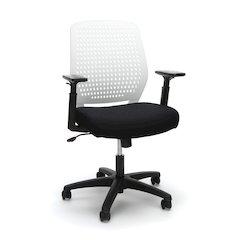 Plastic Back Ergonomic Task Chair, White