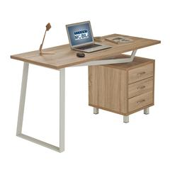 Modern Design Computer Desk with Storage. Color: Sand