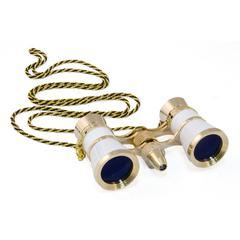 Broadway 325F Opera Glasses (white, with LED light and chain)