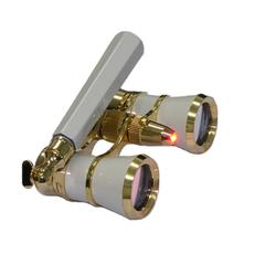 Broadway 325N Opera Glasses (white lorgnette with LED light)