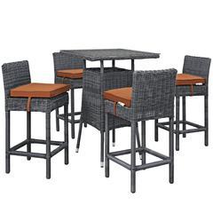 Summon 5 Piece Outdoor Patio Sunbrella® Pub Set