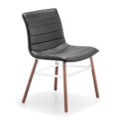 ZuoMod Trondheim Chair Black Leatherette, Set of 2