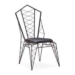 ZuoMod Heavy Metal Chair Rustic Black, Set of 2