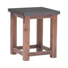 Greenpoint Side Table Gray & Distressed Fir