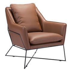 Lincoln Lounge Chair Saddle