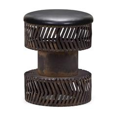 ZuoMod Rock n Roll Stool Rustic Black