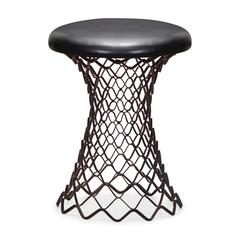 ZuoMod Spindle Stool Rustic Black