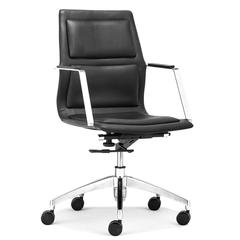 ZuoMod Luminary Low Back Office Chair Black