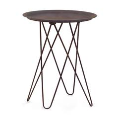 ZuoMod Punk Side Table Rustic Black