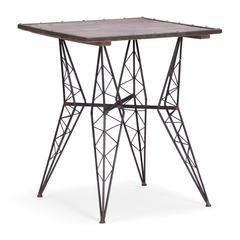 ZuoMod Heavy Metal Bistro Table Rustic Black