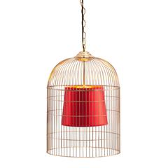 ZuoMod Sprite Ceiling Lamp Small Gold & Red