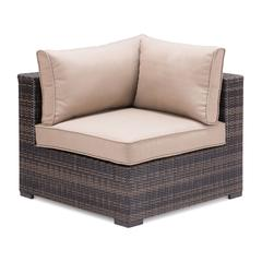 ZuoMod Bocagrande Corner Chair Brown