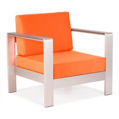 ZuoMod Cosmopolitan Arm Chair Cushions Orange