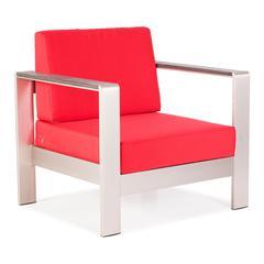 ZuoMod Cosmopolitan Arm Chair Cushions Red