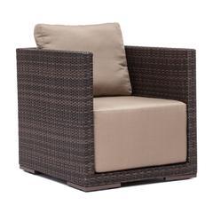ZuoMod Park Island Arm Chair Brown