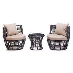 ZuoMod Stanley Patio Stacking Set Brown