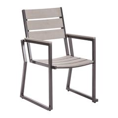 ZuoMod Megapolis Dining Chair Gray, Set of 2