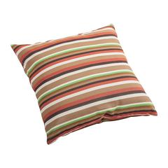 Hamster Small Outdoor Pillow Brown base multistripe