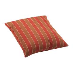 ZuoMod Joey Large Outdoor Pillow Brown and Clay wide stripe