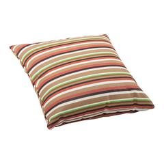 ZuoMod Hamster Large Outdoor Pillow Brown base multistripe