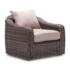 ZuoMod Praia Arm Chair Light Brown