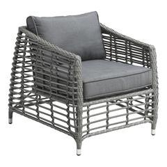 ZuoMod Wreak Beach Arm Chair Grey