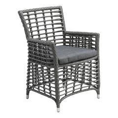 ZuoMod Sandbanks Dining Chair Grey, Set of 2