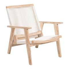 WEST PORT ARM CHAIR WHITE WASH&WHITE