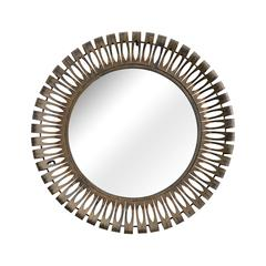 ZuoMod Drum Mirror Rusted metal frame