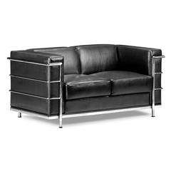 ZuoMod Fortress Loveseat Black