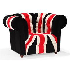 ZuoMod Union Jack Arm Chair Red, White & Black