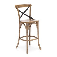 ZuoMod Union Square Bar Chair Natural