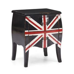 ZuoMod Union Jack Small Cabinet Distressed Black