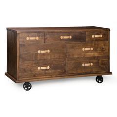 ZuoMod Oaktown Wide Dresser Distressed Walnut