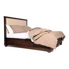 ZuoMod The City Queen Size Bed Dark Brown